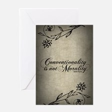 conventionality-is-not-morality_j Greeting Card