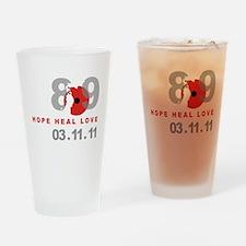 Japan Earthquake 4 Drinking Glass