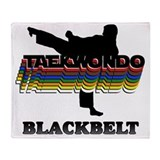 Black belt Fleece Blankets