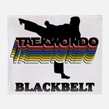 TKD-BlackBelt-Colors Throw Blanket