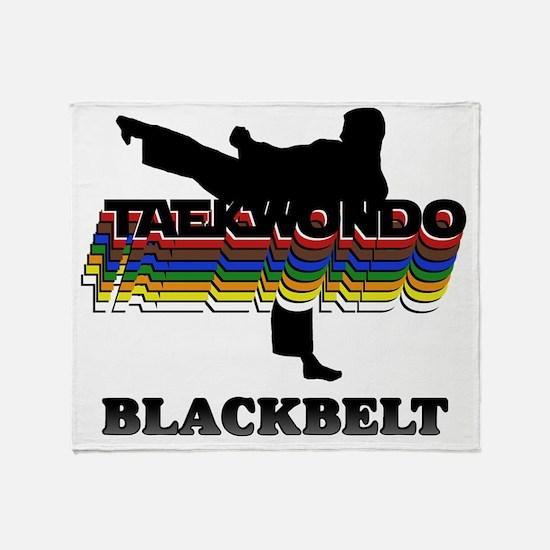 TKD-BlackBelt-Colors Throw Blanket