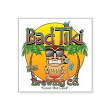 "Bad Tiki - Revised Square Sticker 3"" x 3"""