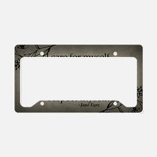 i-care-for-myself_9x18 License Plate Holder
