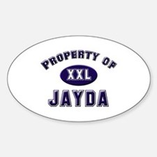 Property of jayda Oval Decal
