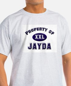 Property of jayda Ash Grey T-Shirt