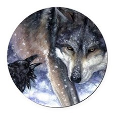 The Messenger Round Car Magnet