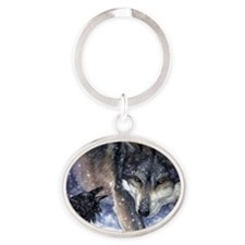 The Messenger Oval Keychain