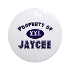 Property of jaycee Ornament (Round)