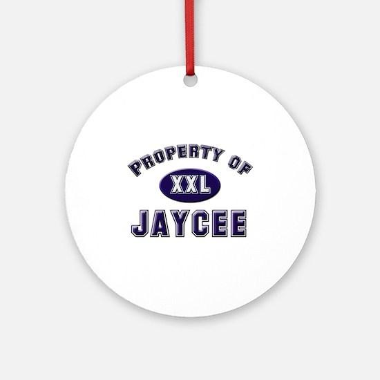 Property of jaycee Ornament (Round)