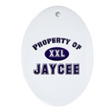 Property of jaycee Oval Ornament
