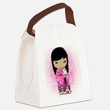 iPhone 4 Slider Case Sakura Girls Canvas Lunch Bag