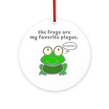 frog-plague Round Ornament