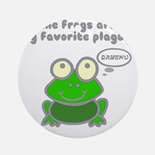 frog-plague Round Ornament