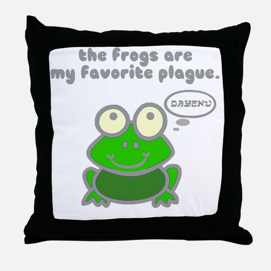 frog-plague Throw Pillow