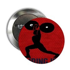 "pumping_iron_10by10_red 2.25"" Button"