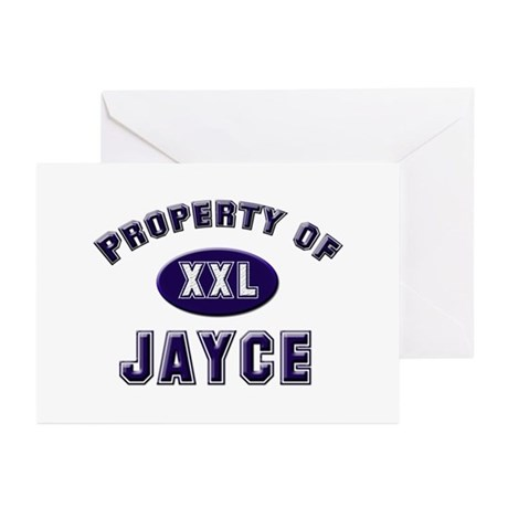 Property of jayce Greeting Cards (Pk of 10)