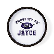 Property of jayce Wall Clock