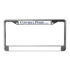 Cowbell_Posse_Logo_com_Rev License Plate Frame