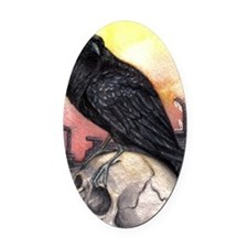 Raven Oval Car Magnet