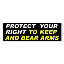 Protect Your Gun Rights Bumper Bumper Sticker