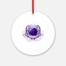 BowlingGrandma (purple) Round Ornament