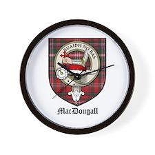 MacDougall Clan Crest Tartan Wall Clock
