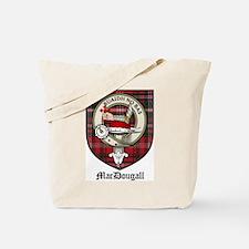 MacDougall Clan Crest Tartan Tote Bag