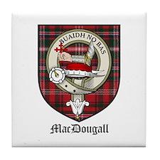 MacDougall Clan Crest Tartan Tile Coaster