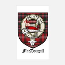 MacDougall Clan Crest Tartan Rectangle Decal