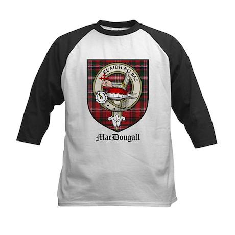 MacDougall Clan Crest Tartan Kids Baseball Jersey