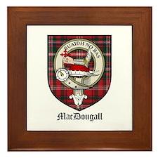 MacDougall Clan Crest Tartan Framed Tile