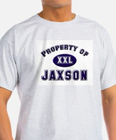 Property of jaxson Ash Grey T-Shirt