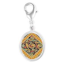 keycelticgold Silver Oval Charm