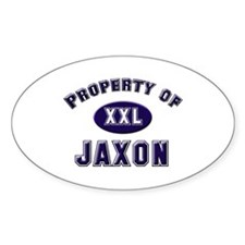 Property of jaxon Oval Decal