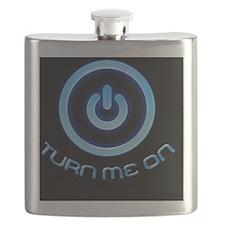 Turn Me On Sticker Black Flask