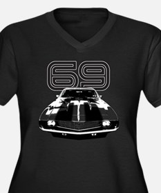 Camaro 1969  Women's Plus Size Dark V-Neck T-Shirt