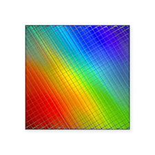 "rainbow 2 Square Sticker 3"" x 3"""
