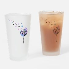 Dandelion rainbow Drinking Glass