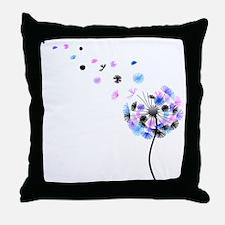 Dandelion rainbow Throw Pillow