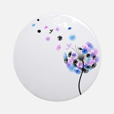 Dandelion rainbow Round Ornament