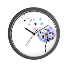 Dandelion rainbow Wall Clock