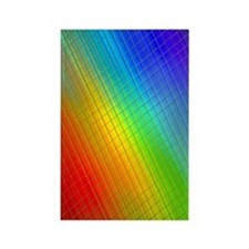 rainbow 21 Rectangle Magnet