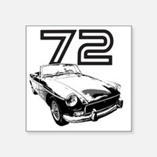 "MG 1972 copy Square Sticker 3"" x 3"""