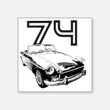 "MG 1974 copy Square Sticker 3"" x 3"""
