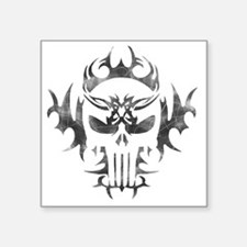 "Punisher Skull Square Sticker 3"" x 3"""