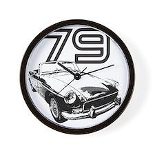 MG 1979 copy Wall Clock