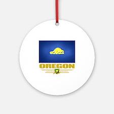Oregon (Flag 10)1 Round Ornament