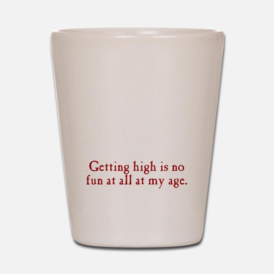 getting-high3 Shot Glass