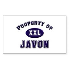Property of javon Rectangle Decal