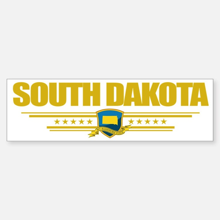 South Dakota (Flag 10) pocket Bumper Bumper Sticker